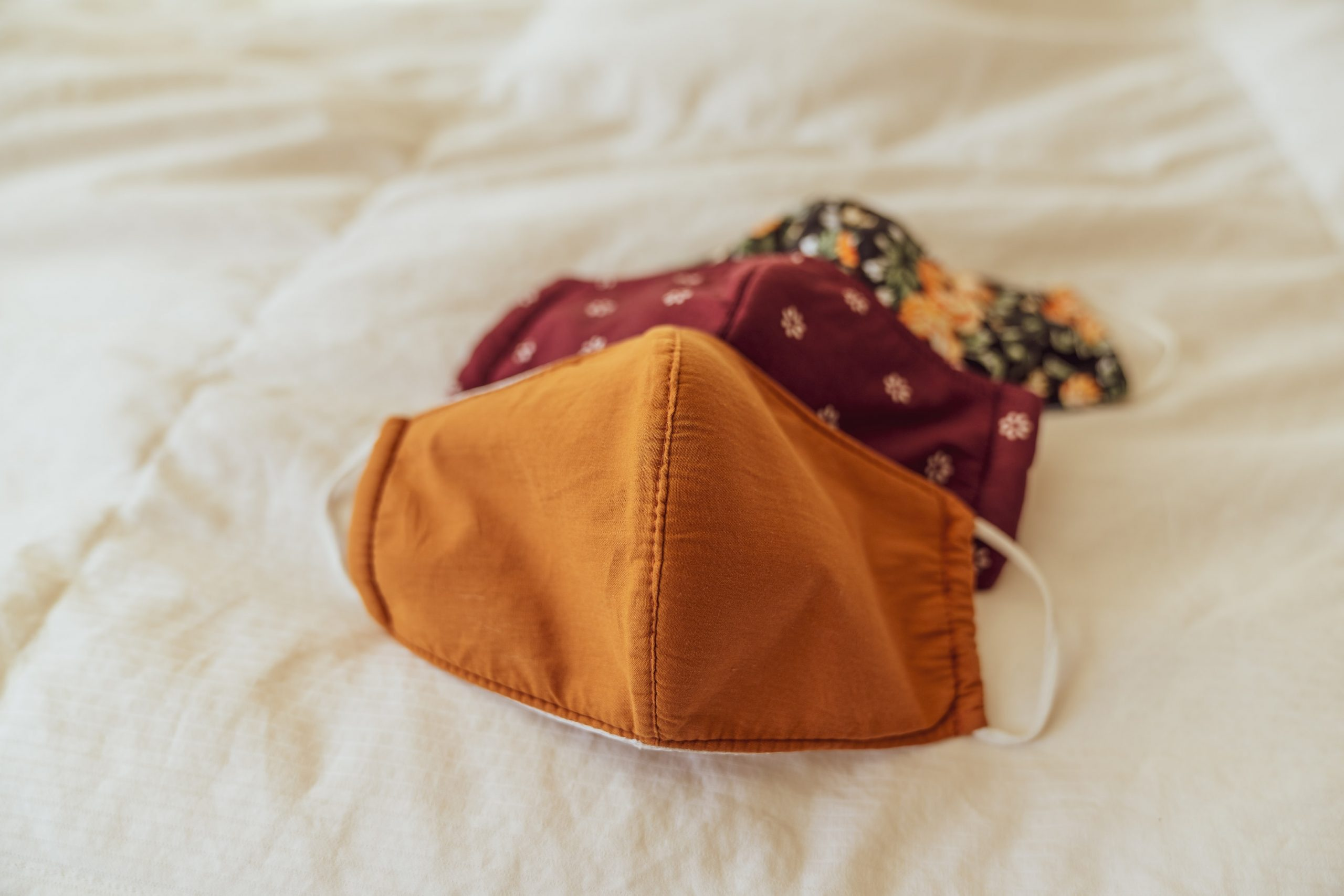 Reusable masks on the bed